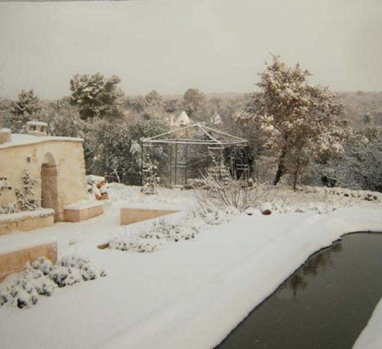 December 2009, snow at trullo adagio